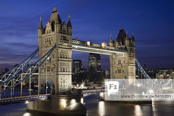 England  London  Tower Bridge and River Thames
