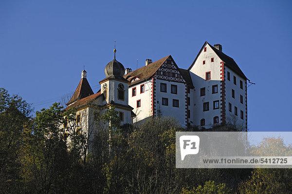 Egloffsteiner Burg  14. Jhd.  Egloffstein  Oberfranken  Bayern  Deutschland  Europa