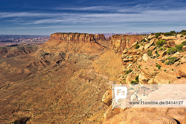 Grand View Point  Island in the Sky  Canyonlands Nationalpark  Utah  USA