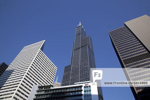 Vereinigte Staaten von Amerika USA Amerika Gebäude Verbindung hoch oben Chicago Illinois