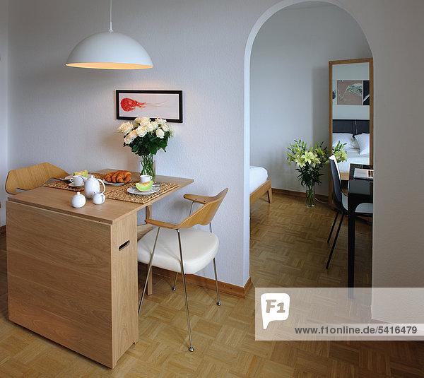 Korridor Korridore Flur Flure am Tisch essen Zimmer Schlafzimmer Apartment