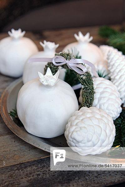 White Christmas Dekoration
