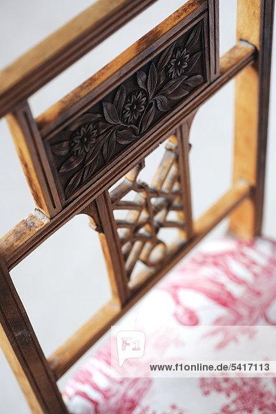 Detail eines Stuhls