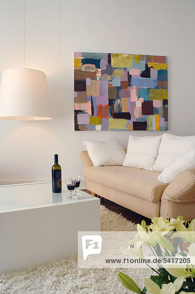 Wand Zimmer streichen streicht streichend anstreichen anstreichend Wohnzimmer