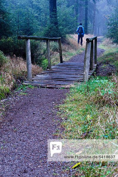 wandern Holzbrücke