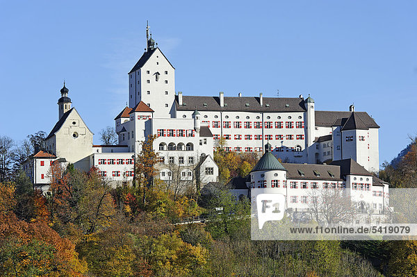 Schloss Hohenaschau  Aschau  Chiemgau  Oberbayern  Bayern  Deutschland  Europa