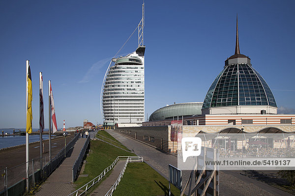 Mediterraneo  Conference Center  Sail City  Havenwelten  Bremerhaven  Weser  Nordsee  Niedersachsen  Deutschland  Europa  ÖffentlicherGrund