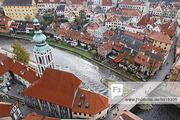 St. Jost Church on the Vltava river  Cesky Krumlov  UNESCO World Heritage Site  South Bohemia  Bohemia  Czech Republic  Europe