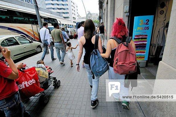 Pelai street. Barcelona. Catalonia. Spain.