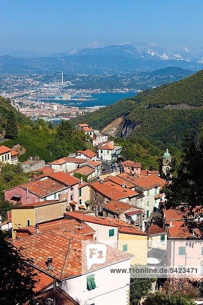 Europa Dorf Ansicht Italien Ligurien