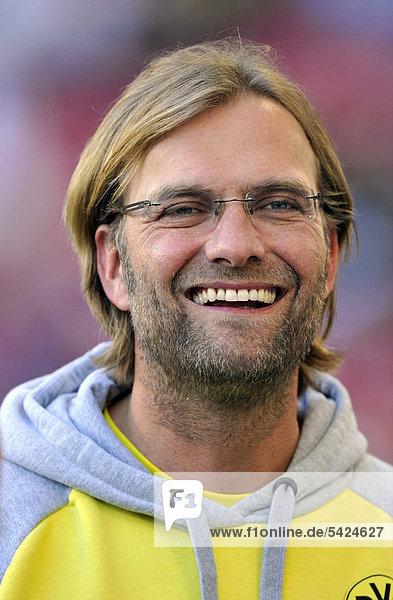 Portrait of Borussia Dortmund manager Juergen Klopp  Mercedes-Benz Arena  Stuttgart  Baden-Wuerttemberg  Germany  Europe