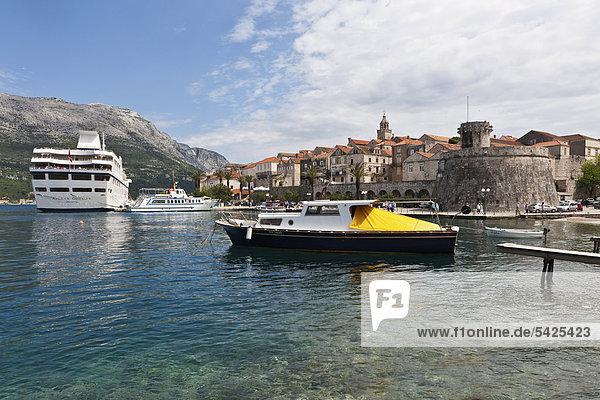 Hafen Europa Kreuzfahrtschiff Kroatien Dalmatien Korcula Odyssey