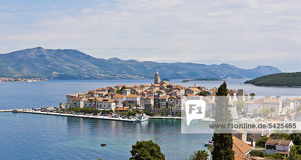 Europa Stadt Geschichte Ignoranz Kroatien Dalmatien Korcula