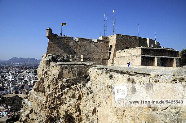 Kastell Castillo de Santa B·rbara  Alicante  Costa Blanca  Spanien  Europa