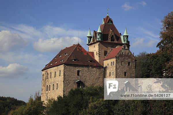 Schloss Kuckuckstein in Liebstadt  Sachsen  Deutschland  Europa