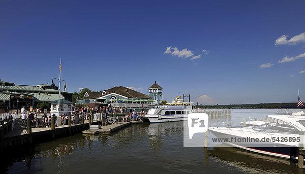 Alexandria National Harbor  waterfront  old town of Alexandria  Virginia  United States of America  USA  PublicGround