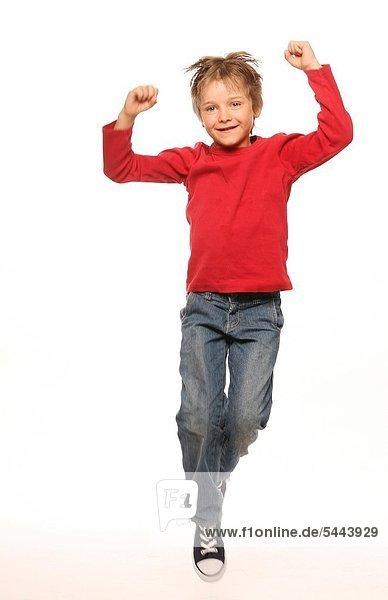 Kind in der Luft. Kind in Bewegung