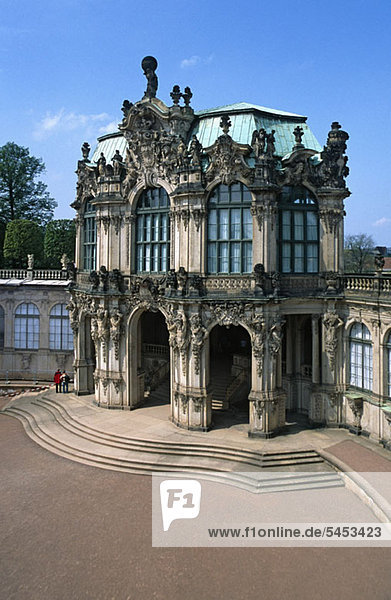 Wallpavillon des Zwingers  Dresden  Deutschland