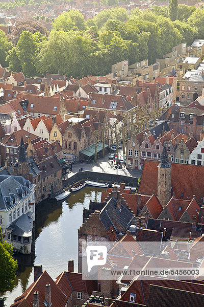 Europa UNESCO-Welterbe Luftbild Belgien Flandern