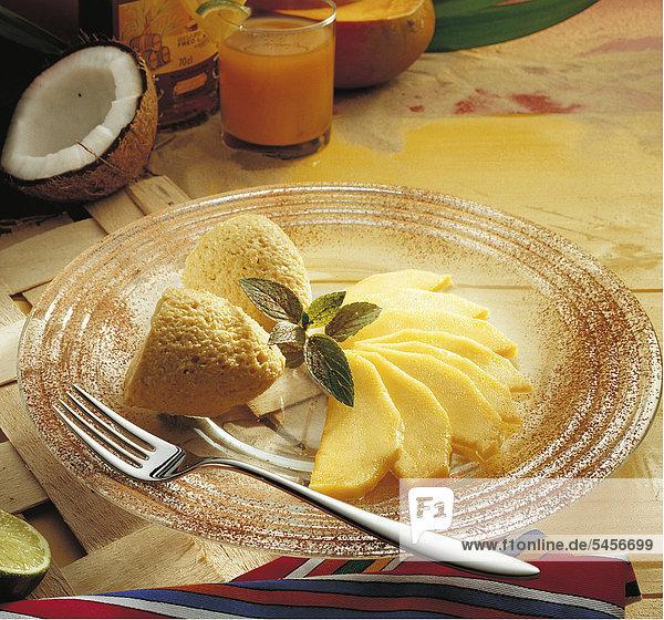 Mango-Kokos-Mousse  Jamaika  Rezept gegen Gebühr erhältlich
