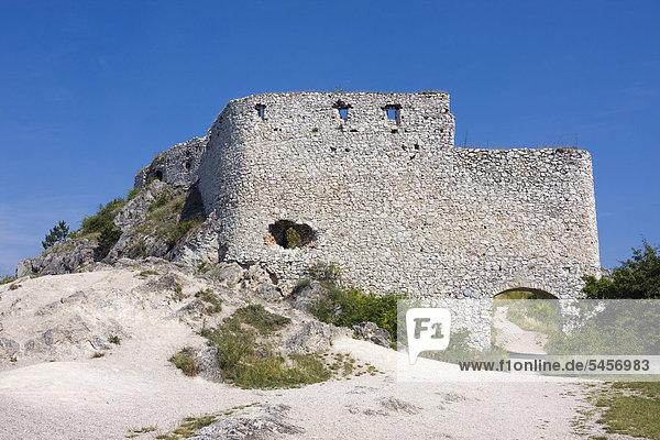 Schloss Cachtice  Bezirk Nove Mesto nad Vahom  Region Trencin  Slowakei  Europa