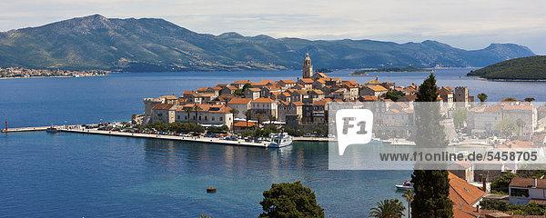 Altstadt Korcula  Mitteldalmatien  Dalmatien  Adriaküste  Kroatien  Europa  ÖffentlicherGrund