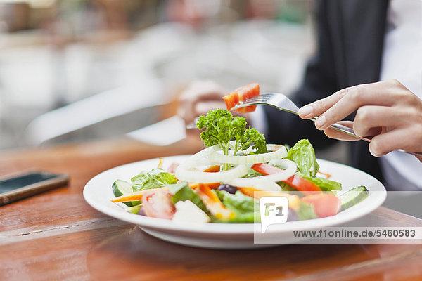 Nahaufnahme von Salat