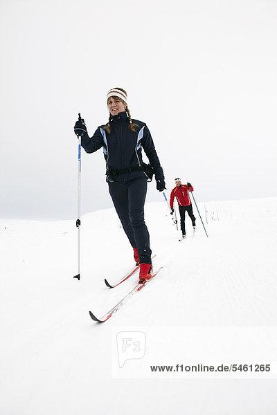Skisport  Schnee