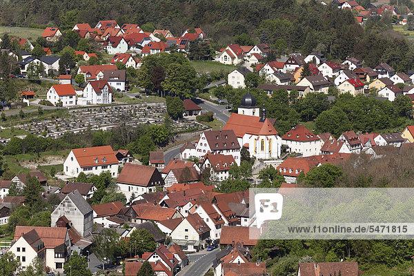Heiligenstadt,  Fränkische Schweiz,  Oberfranken,  Franken,  Bayern,  Deutschland,  Europa,  ÖffentlicherGrund