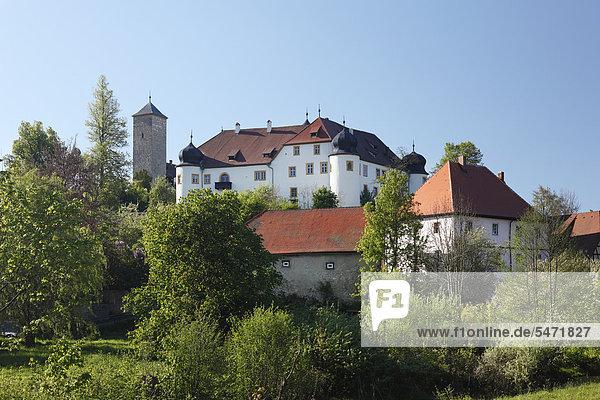 Burg Unteraufseß  Aufseß  Fränkische Schweiz  Oberfranken  Franken  Bayern  Deutschland  Europa  ÖffentlicherGrund