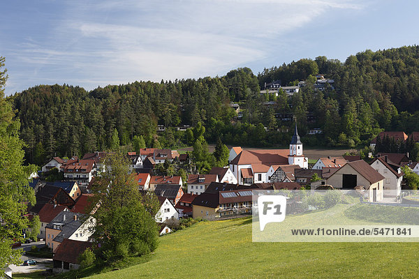 Obertrubach,  Trubachtal,  Fränkische Schweiz,  Oberfranken,  Franken,  Bayern,  Deutschland,  Europa,  ÖffentlicherGrund