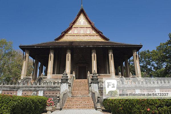 Museum für buddhistische Kunst  Ho Phra Keo Tempel  Vientiane  Laos  Indochina  Asien