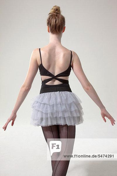 Rückansicht Ansicht Balletttänzerin