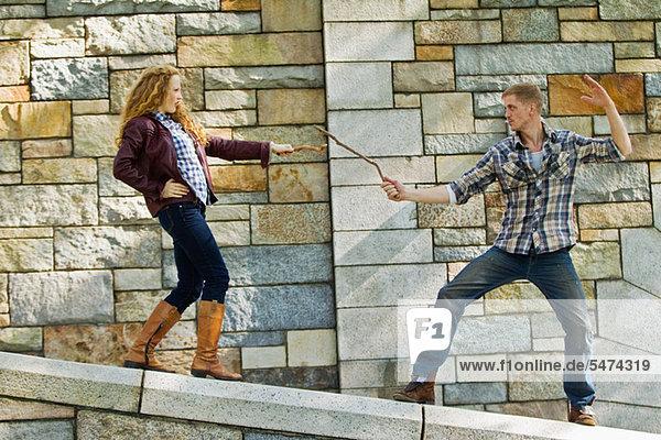 Steinmauer  Kampf  Spiel