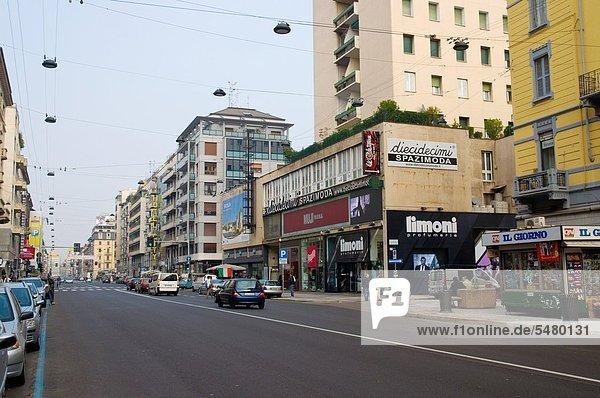 Corso Buenos Aires Straße Mailand Lombardei Region Italien Europa