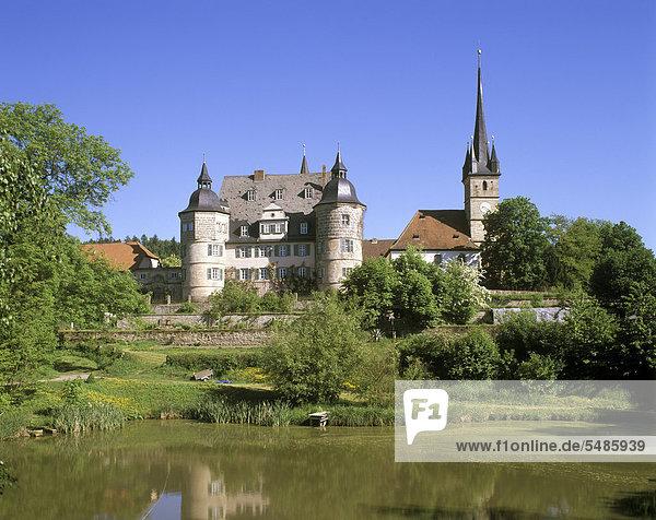 Schloss Ahorn  Oberfranken  Franken  Bayern  Deutschland  Europa