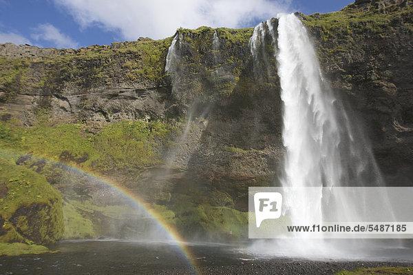 Seljalandsfoss Wasserfall  Südisland  Island  Europa