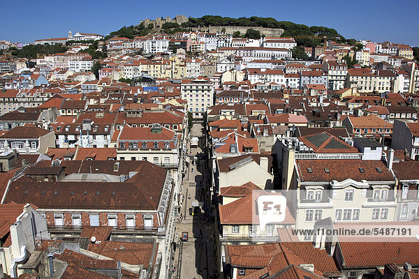 Lissabon Hauptstadt Europa heben Ansicht Elevador de Santa Justa Portugal