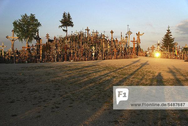 Hill of Crosses  near Siauliai  Lithuania  Europe