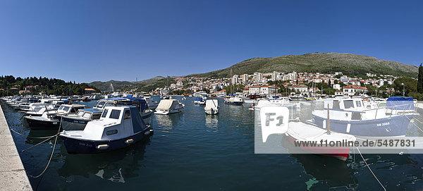 Hafen Europa Ansicht Kroatien Dalmatien Dubrovnik