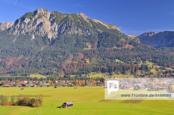 Europa Berg Bayern Deutschland Oberstdorf