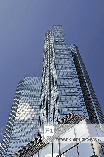 Bankenviertel Europa Frankfurt am Main Deutschland Hessen