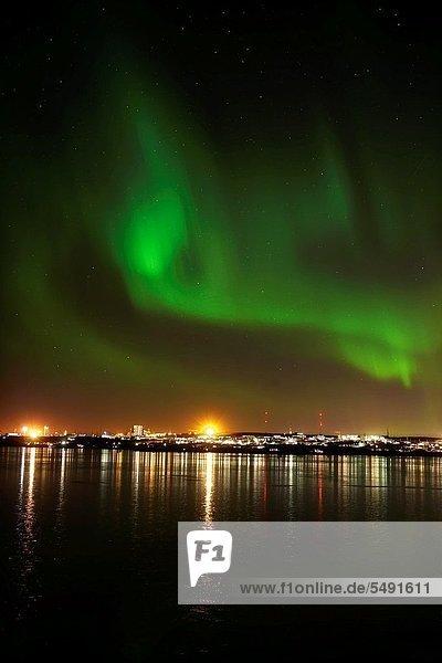 Reykjavik Hauptstadt Polarlicht Island