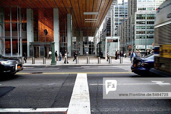 New York City  Straße  Allee  Manhattan