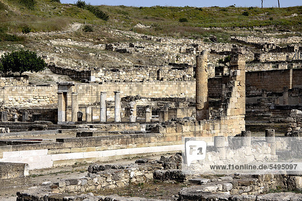 Kamiros oder Kameiros  Ruinen einer antiken hellenistischen Stadt  Rhodos  Griechenland  Europa