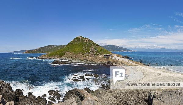 Felsen am Torra di a Parata  Ajaccio  Korsika  Frankreich  Europa