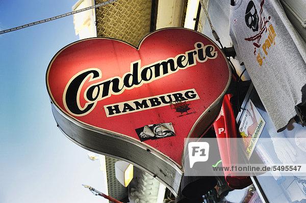 Kondomgeschäft Condomerie an der Reeperbahn in St. Pauli  Hamburg  Deutschland  Europa Kondomgeschäft Condomerie an der Reeperbahn in St. Pauli, Hamburg, Deutschland, Europa