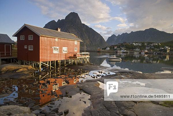 nahe Europa Küste Meer Norwegen Moskenesoy nordland Reine