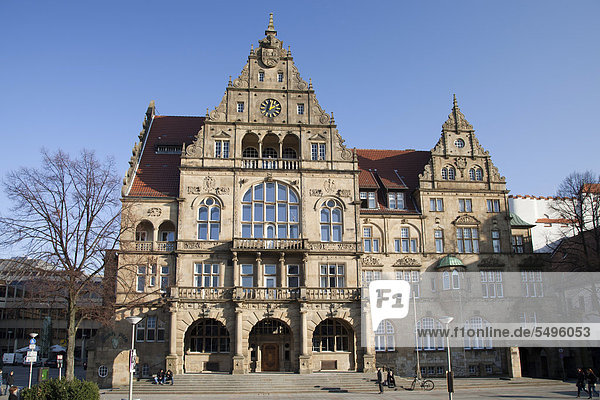 Old town hall  Bielefeld  Ostwestfalen-Lippe region  North Rhine-Westphalia  Germany  Europe  PublicGround