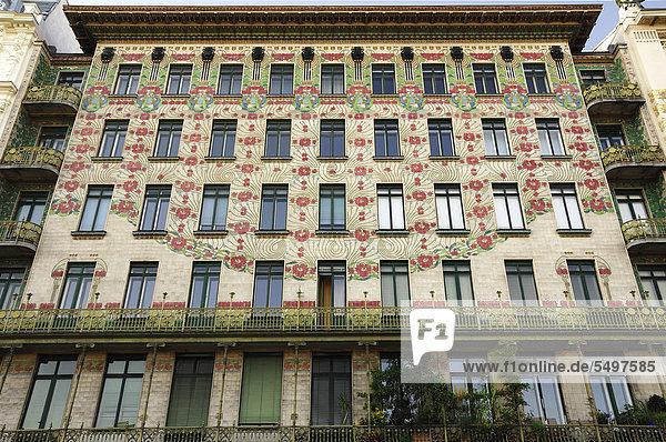Wien Hauptstadt Europa Gebäude Wahrzeichen Apartment Jugendstil Art Nouveau Modern Style Modernisme Stile Liberty Österreich